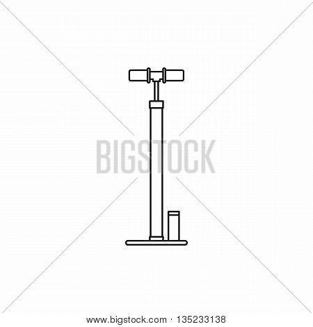 Bicycle pump icon in outline style isolated on white background