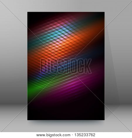 Brochure Cover Template Vertical Format Glowing Background24