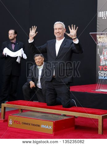 Roland Emmerich at the Roland Emmerich Hand And Footprint Ceremony held at the TCL Chinese Theatre in Hollywood, USA on June 20, 2016.