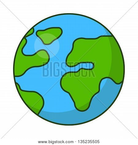 Planet Earth icon. Flat vector illustration for web banner, web and mobile, infographics.