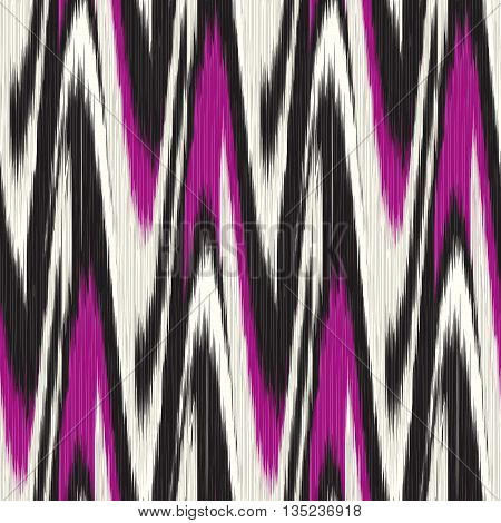 Vinous and black seamless Ikat Pattern. Abstract background for textile design wallpaper surface textures pattern fills wrapping paper.