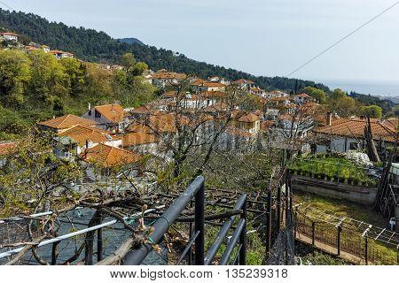 Panorama to village of Potamia, Thassos island,  East Macedonia and Thrace, Greece