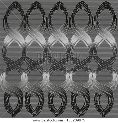 Vector illustration gray background with symmetrical ornament Vector illustration for your desktop or decoration and design gray background with symmetrical ornament