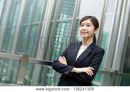 Asian Businesswoman looking away