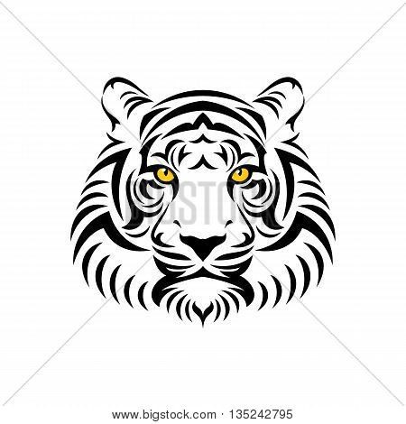 Tiger head logo or icon. Stock vector illustration.