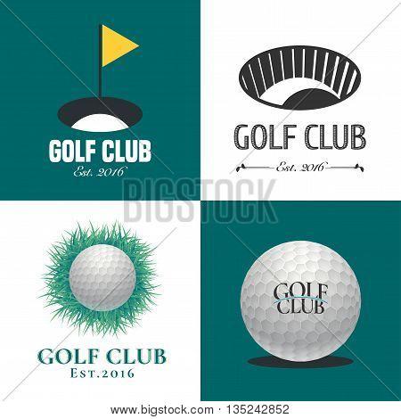 Set of golf vector logo design element