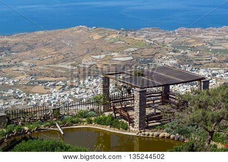Panoramic view of Santorini island, Thira, Cyclades, Greece