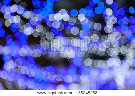 Abstract circular blue broken background of Christmas light.,Abstract circular bokeh background