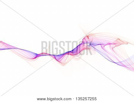 abstract colorful smoke over black background with copyspace.