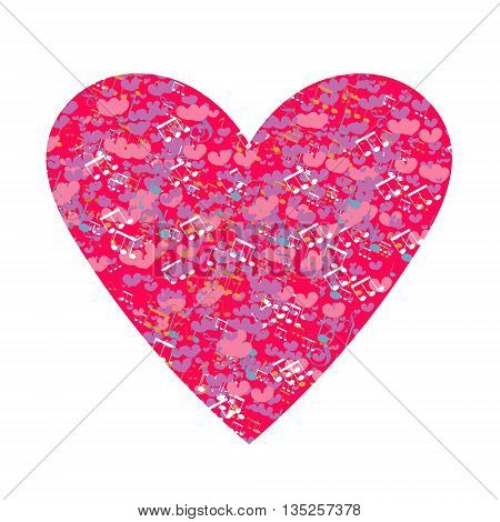 Vector - easy to use and edit. Isolated heart on white. Design for wedding card Valentine card save the date.