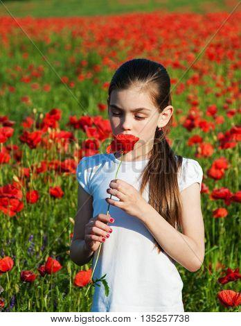 Girl In The Poppy Field