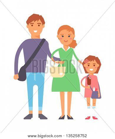 Family portrait vector illustration.