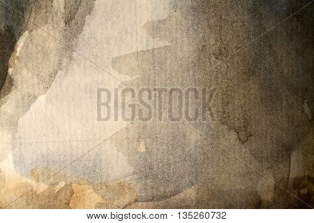 Abstract watercolor painted background dark backdrop design