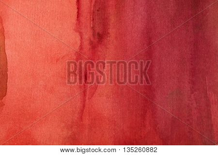 bright red watercolor background paper texture paint stains