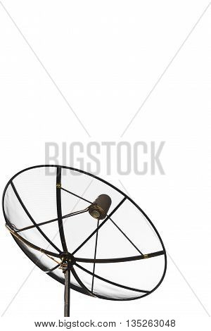 Satellite dish communication technology network isolate on white background.