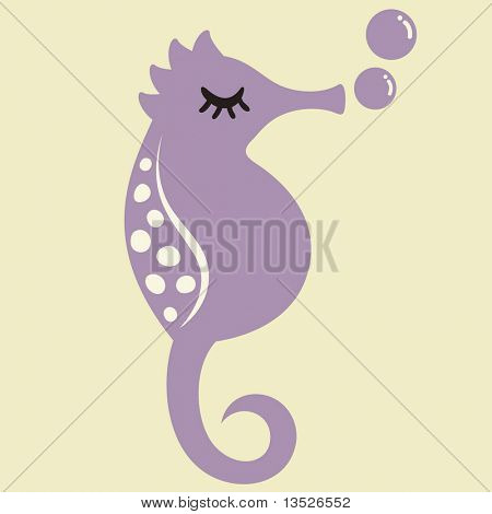 Vektor hübsch hippocampus