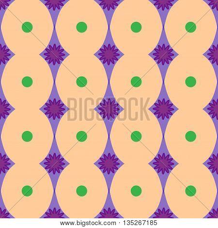 Rhombus polka dot geometric seamless pattern. Fashion graphic background design.