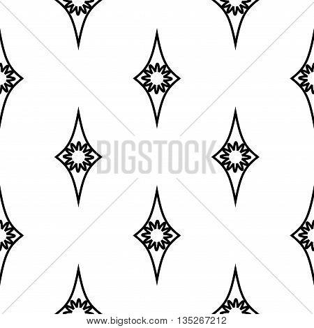 Rhombus geometric seamless pattern. Fashion graphic background design. Modern stylish abstract monochrome texture.