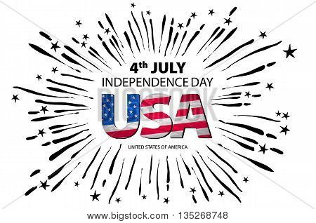 4Th Of July Independence Day Background. Independence Day Concept. 4Th July Independence Day With Fi