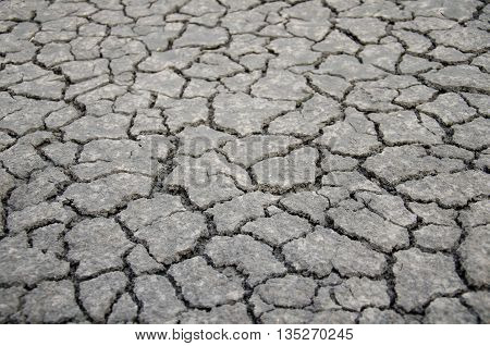 Background of soil cracks in the dried soil in arid season.