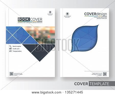 Multipurpose business and corporate cover design layout. Suitable for flyer brochure book cover and annual report. Blue and white color A4 size template background with bleeds. Vector illustration