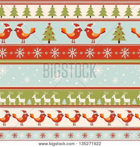 Seamless Vector Greeting Christmas Card