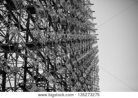 duga chernobyl 2 radar woodpecker black and white Ukraine