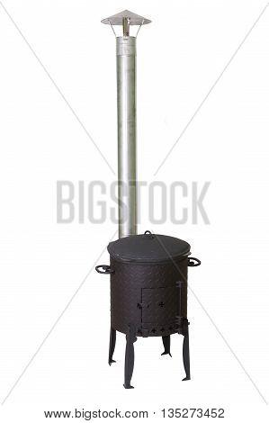traditional Oriental oven for spherical cauldron kazan