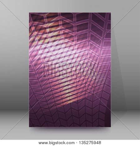 Brochure Cover Template Vertical Format Glowing Background42