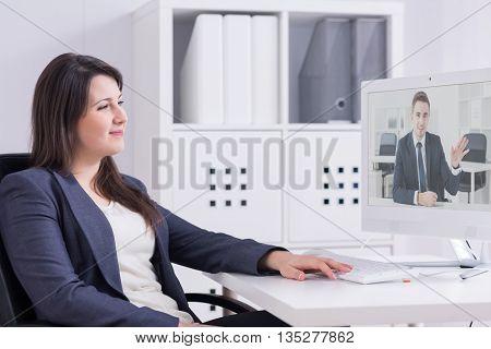 Receiving Good News From Her Overseas Partner