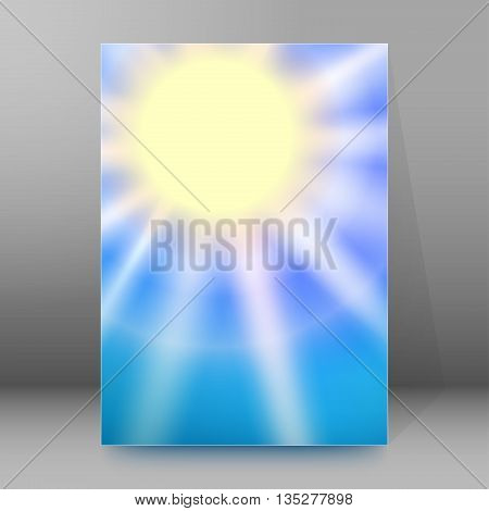 Brochure Cover Template Vertical Format Glowing Background47