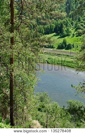 The View Of The River Sylva From The Forty-meter Cliff Near The Town Of Kungur, Perm Region