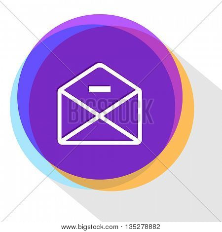 mail minus. Internet template. Vector icon.