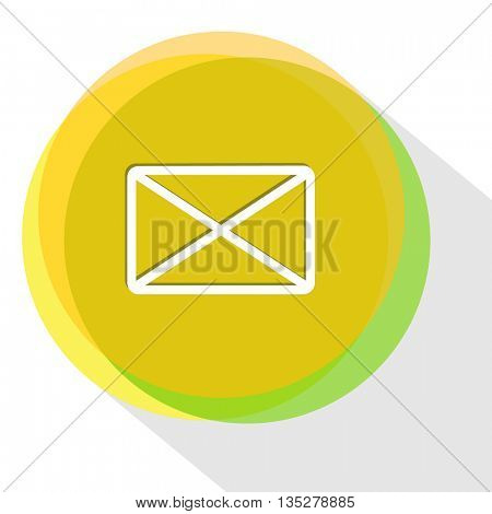 close mail. Internet template. Vector icon.