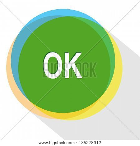 ok. Internet template. Vector icon.