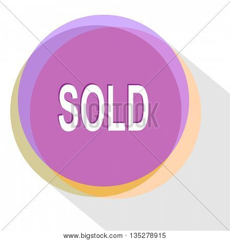 sold. Internet template. Vector icon.