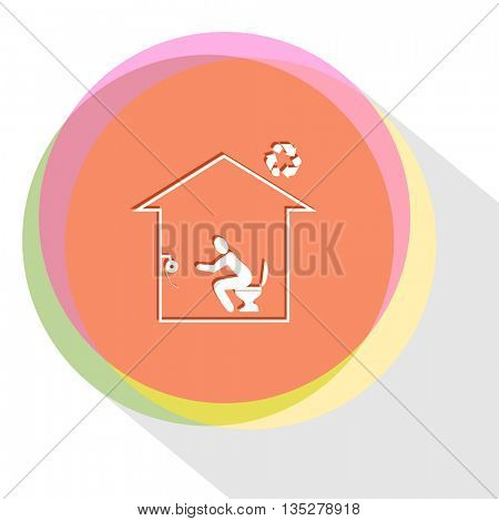 home toilet. Internet template. Vector icon.