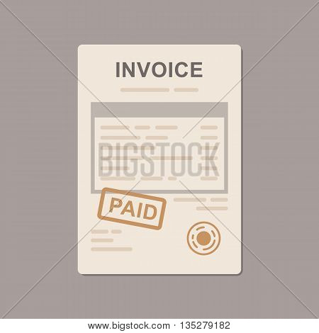 Invoice simple vector icon. Flat vector illustration
