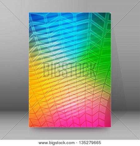 Brochure Cover Template Vertical Format Glowing Background51