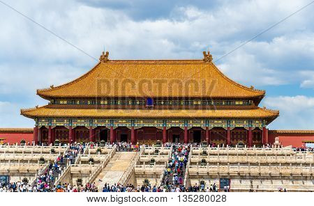 The Hall of Supreme Harmony in the Forbidden City of Beijing - China