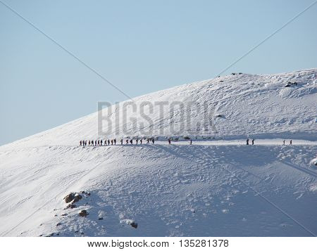 Mount Tochal is a mountain in the Alborz range and a ski resort adjacent to metropolitan Tehran, Iran