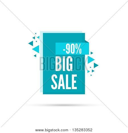 Sale banner. Vector tag. special offer, discount, price 90 percentage  Big sale