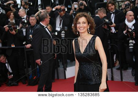 Cannes, France - 11 MAY 2016 - French minister of culture Audrey Azoulay attends the 'Cafe Society' premiere  during the 69th annual Cannes Film Festival