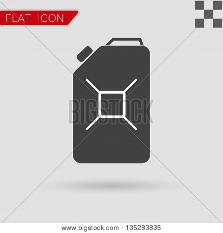 oil Vector icon Flat Style with red mark
