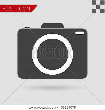 Vector camera icon Flat Style with red mark
