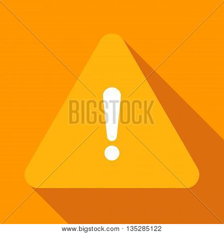 Warning sign. Attention icon. Vector flat illustration.