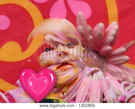 Litthe bebê coração grande