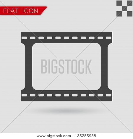 Vector film strip with space for your text or image Flat Style with red mark