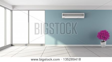 Empty Room With Air Conditioner