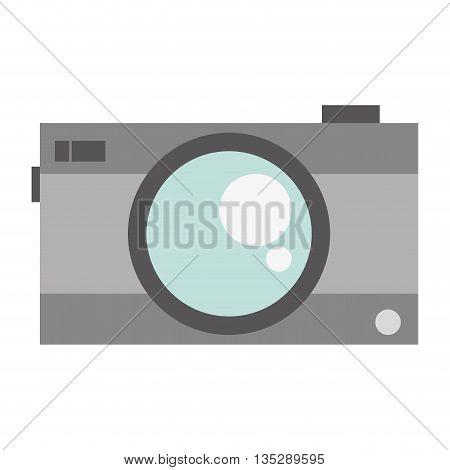 grey photographic camera vector illustration flat icon style